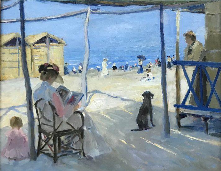 Philipp KLEIN Sulla spiaggia di Viareggio © Landesmuseum Hannover