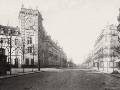 Boulevard Saint-Germain vuota fotografata da Charles Marville intorno al 1850