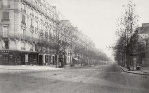 Il Boulevard Haussmann ritratto da Charles_Marville, 1853–70 circa