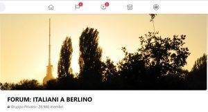 La pagina del forum degli italiani a Berlino