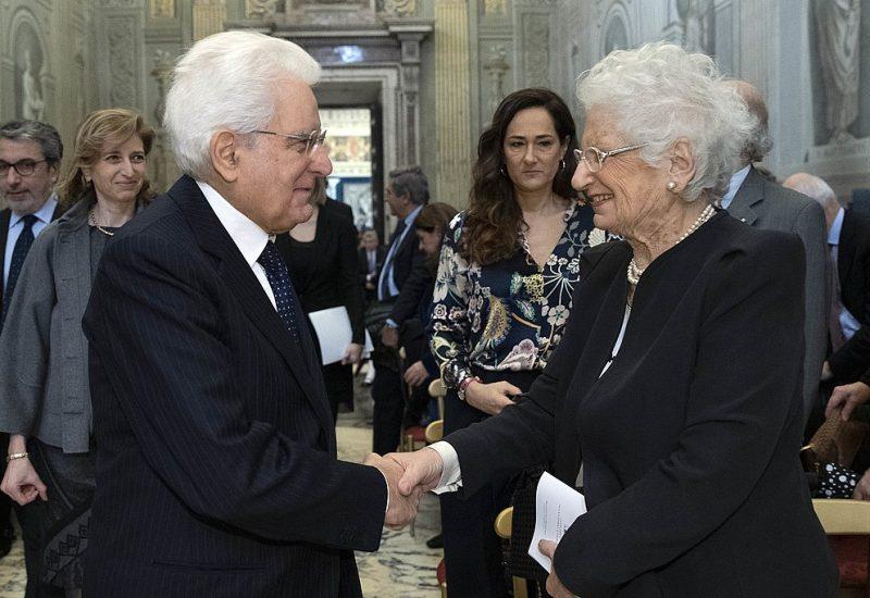 Il Presidente Mattarella con Liliana Segre © Presidenza della Repubblica