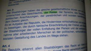 Art. 3 della Grundgesetz © il Deutsch-Italia
