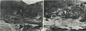 Longarone prima e dopo il disastro del Vajont