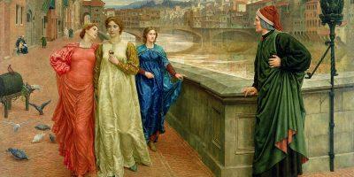 Henry Holiday, Dante incontra Beatrice al ponte Santa Trinita, 1883