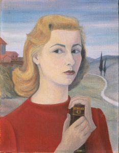 Vivaisabella, Autoritratto con libro, 1955, CC BY-SA 4.0