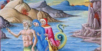 Hölle, XVII, Gesang seite 74 Codex Urbinate Latino 365