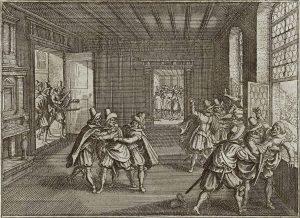 La terza defenestrazione di Praga di Matthäus Merian il vecchio