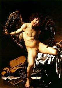 Amor vincit omnia di Michelangelo Merisi, detto Caravaggio