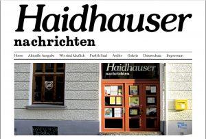 Il sito del Haidhauser Nachrichten